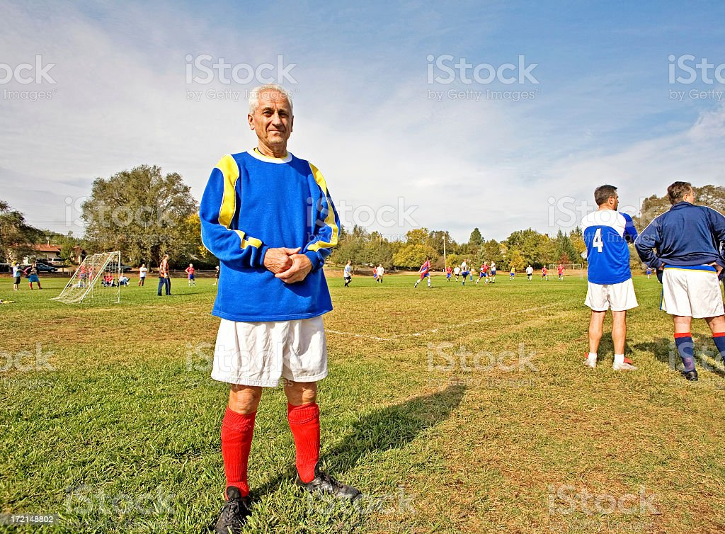 Soccer Star in Front royalty-free stock photo