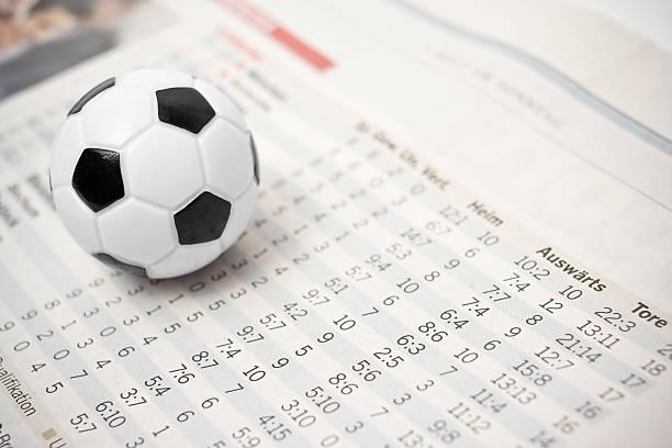 soccer stats stock photo
