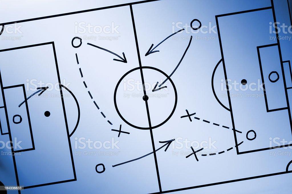 Soccer strategy royalty-free stock photo