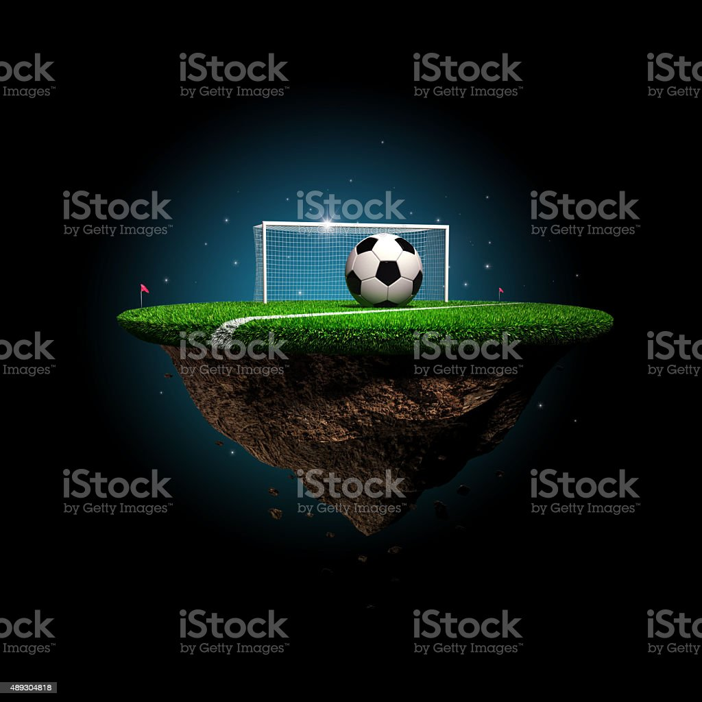 Soccer surreal stadium stock photo