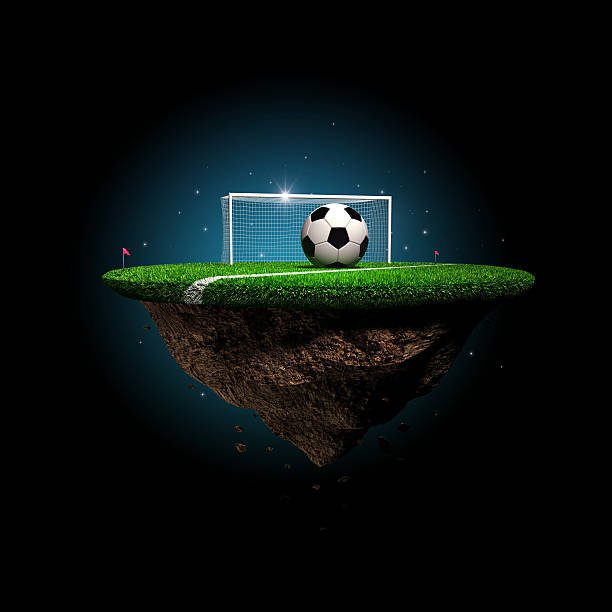 Soccer surreal stadium stock photo