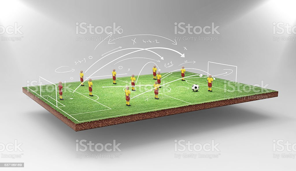 Soccer tactics stock photo
