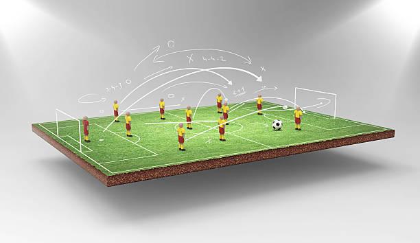 fußball taktiken - gartenillustration stock-fotos und bilder