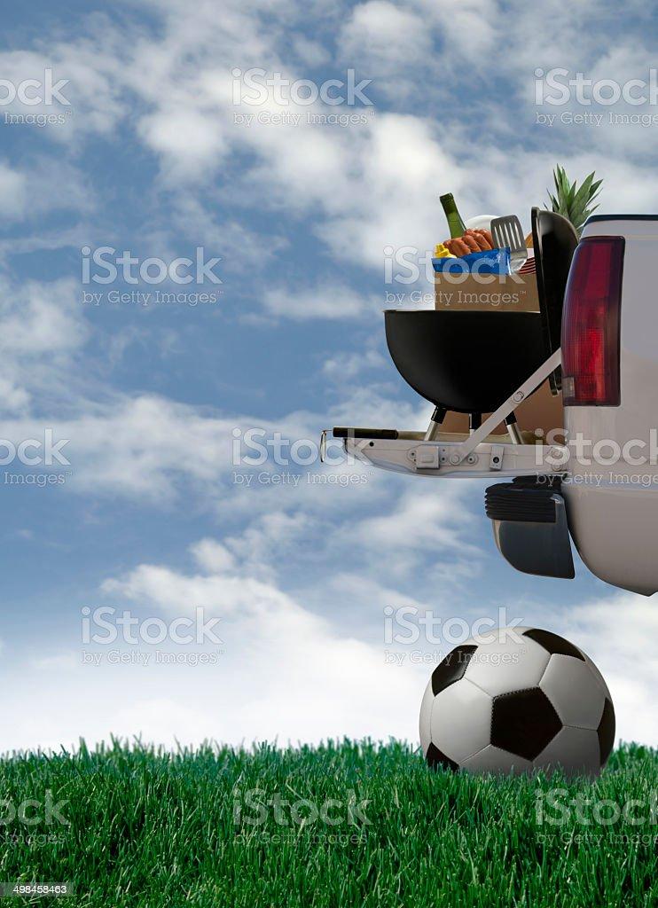 Fête d'avant-match de football - Photo
