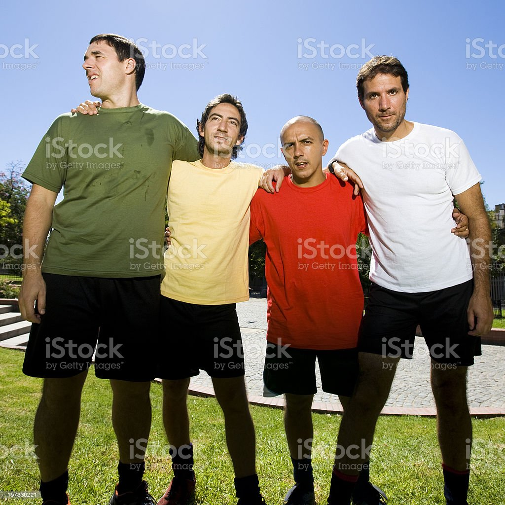 Soccer Team Friends royalty-free stock photo