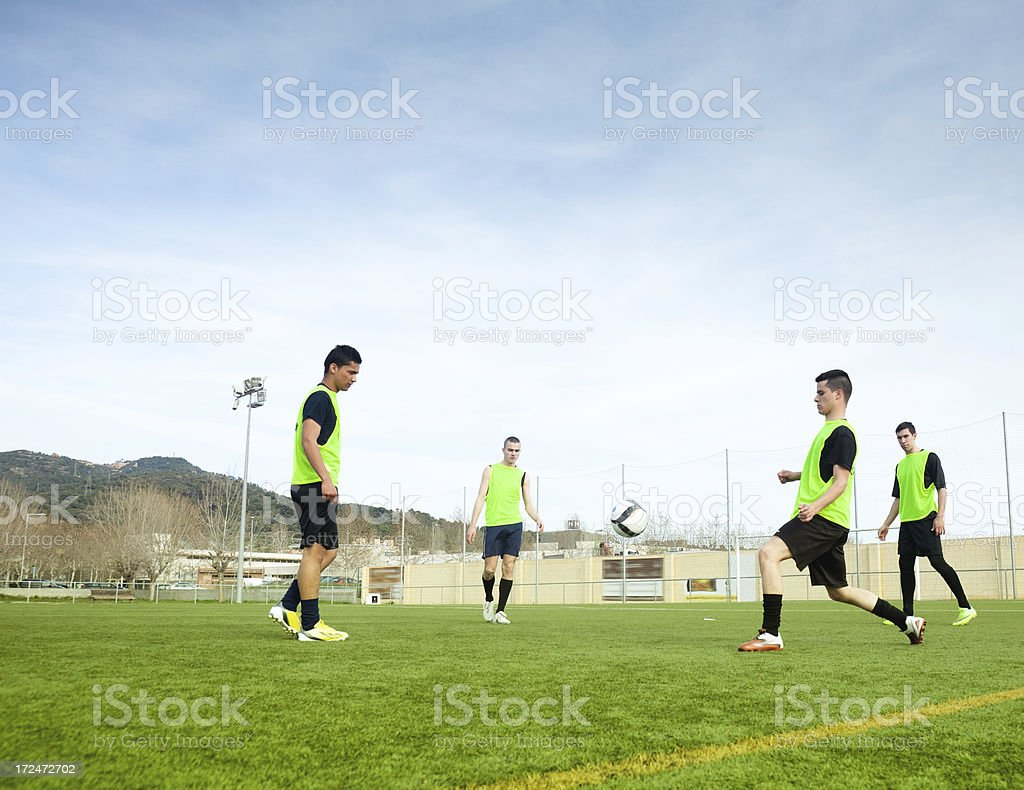 Soccer team players stock photo