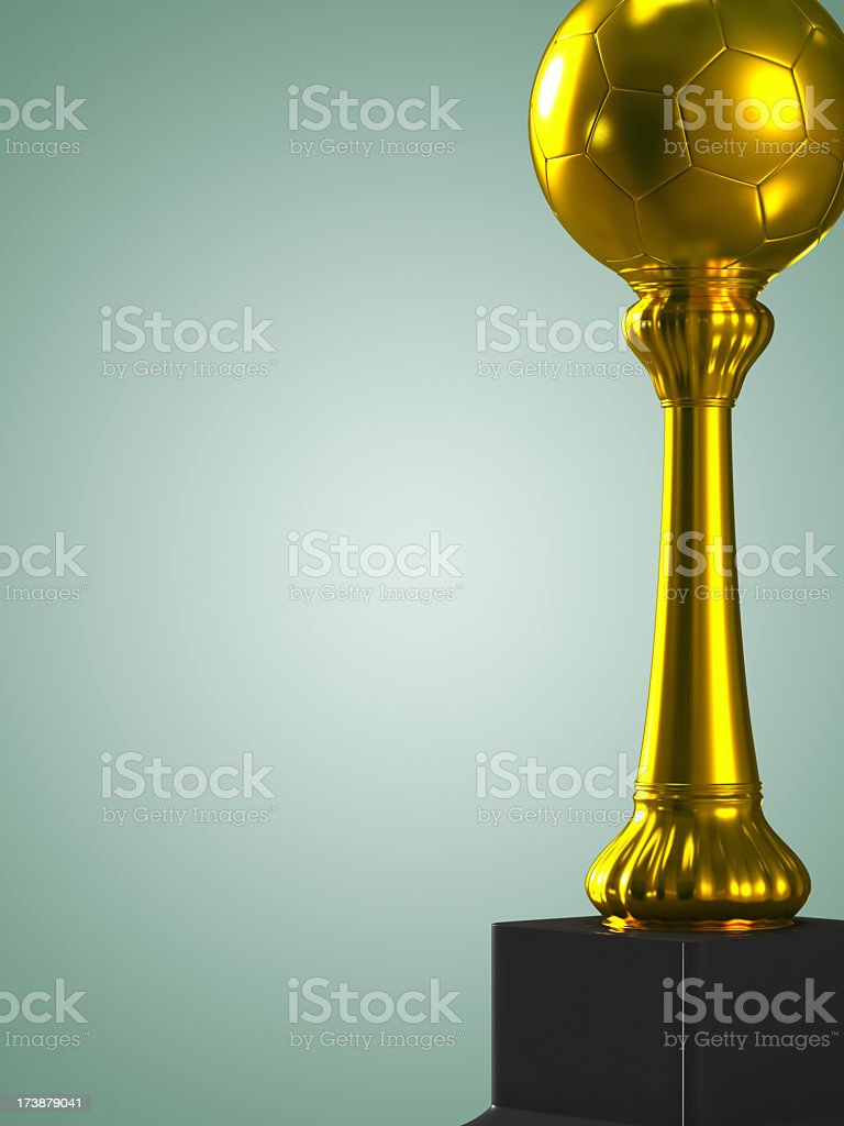 Soccer Throphy royalty-free stock photo