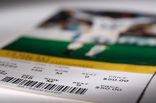 soccer ticket - ticket stock photos and pictures