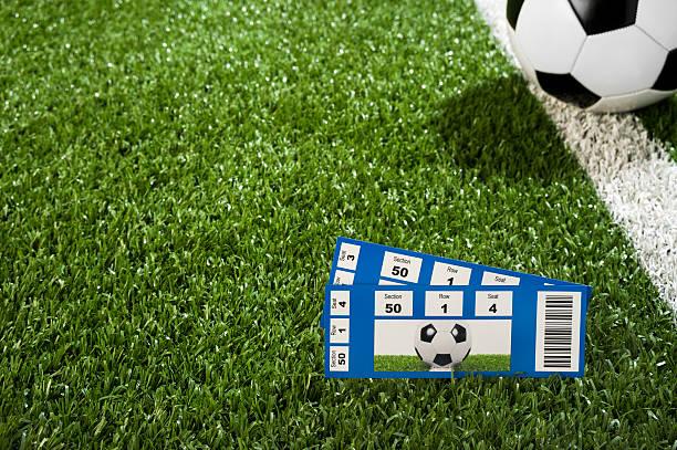 Soccer Tickets stock photo