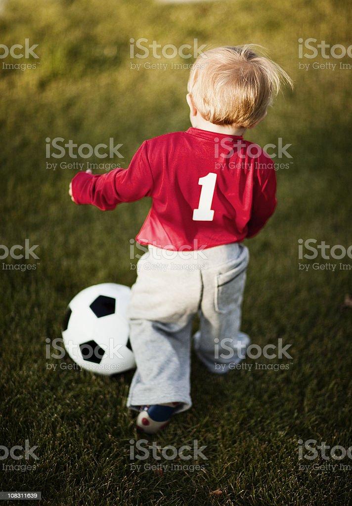 Soccer Toddler stock photo