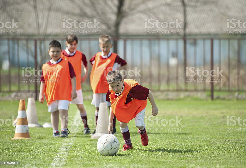 soccer train stock photo