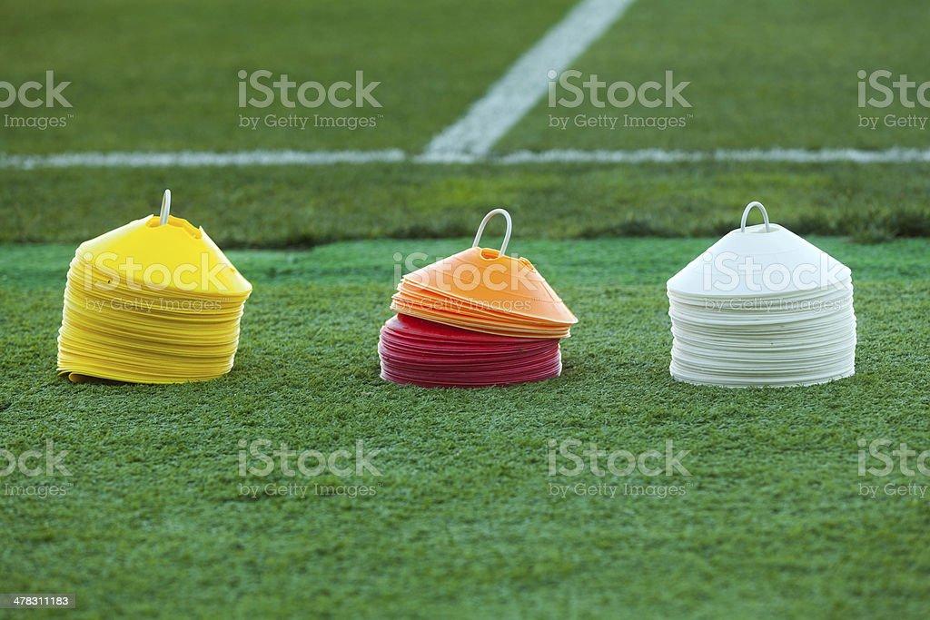 Soccer training equipment stock photo