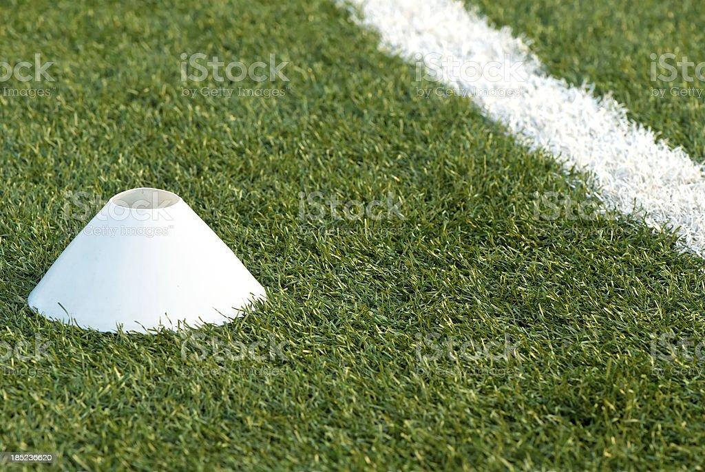 Soccer training field stock photo