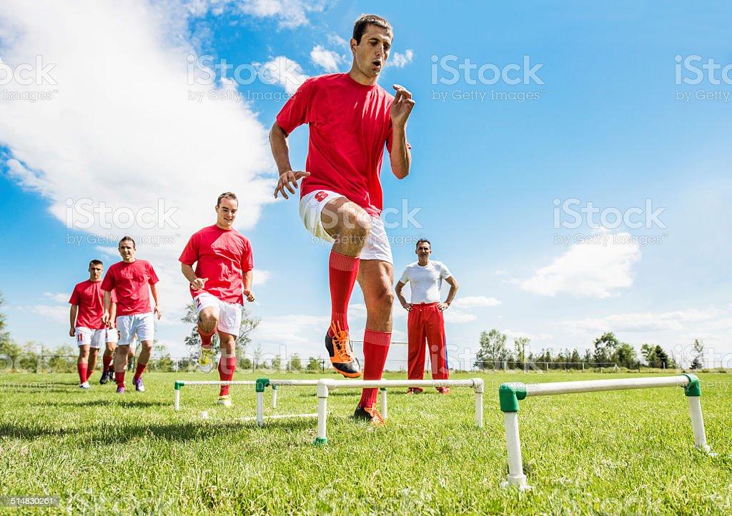 Soccer training. stock photo