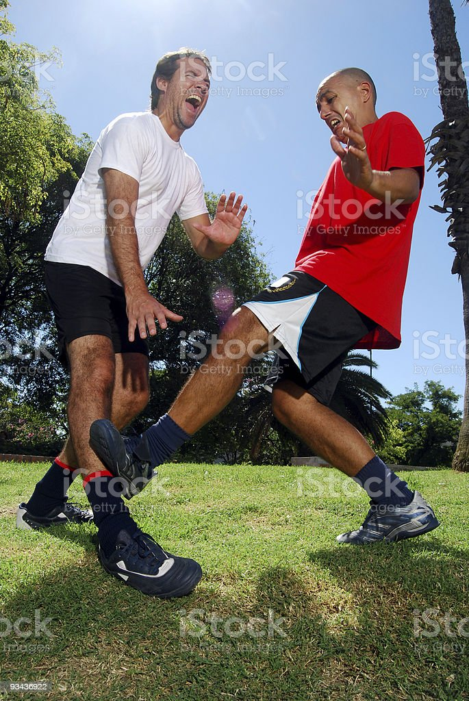Soccer war royalty-free stock photo