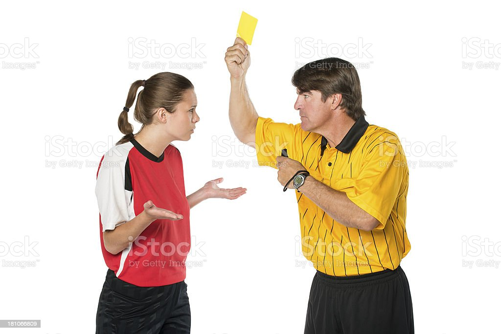 Soccer Yellow Card royalty-free stock photo