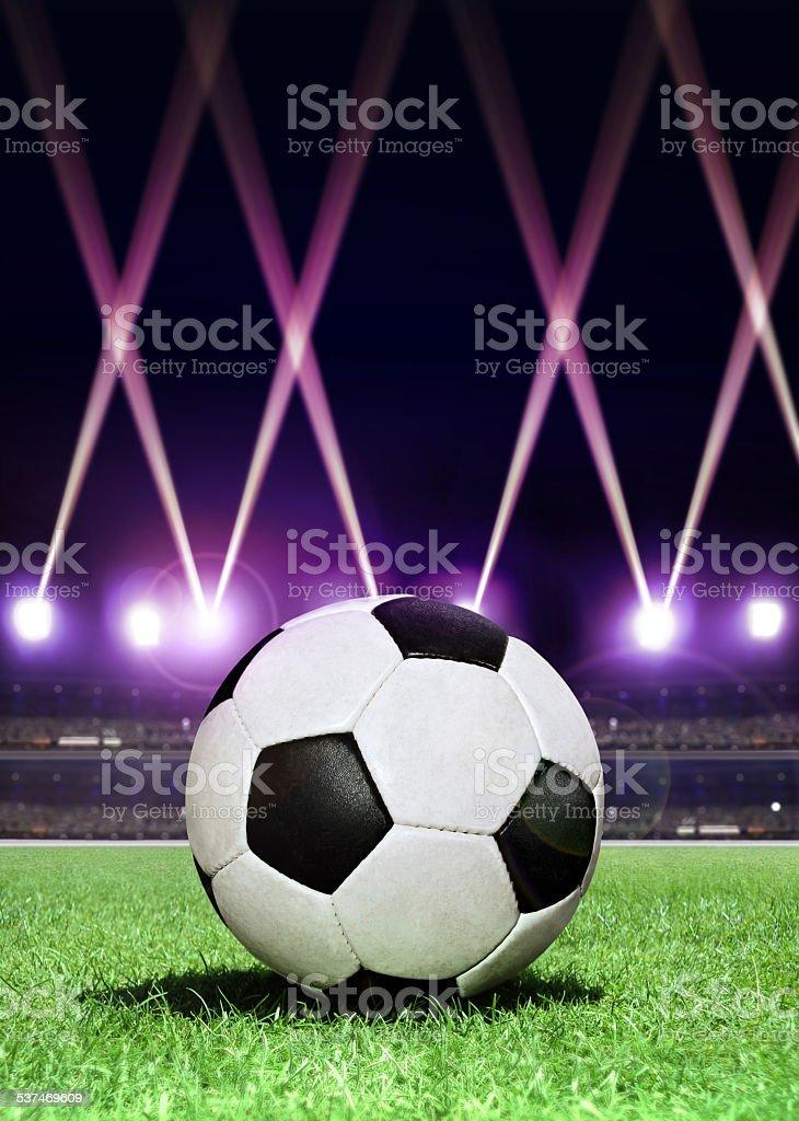 soccerball で華やかな照明 ストックフォト