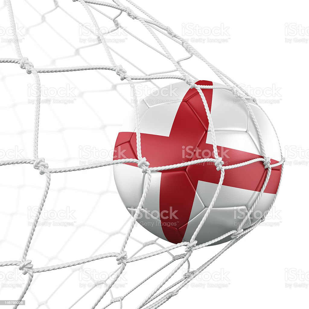 Soccerball in net royalty-free stock photo