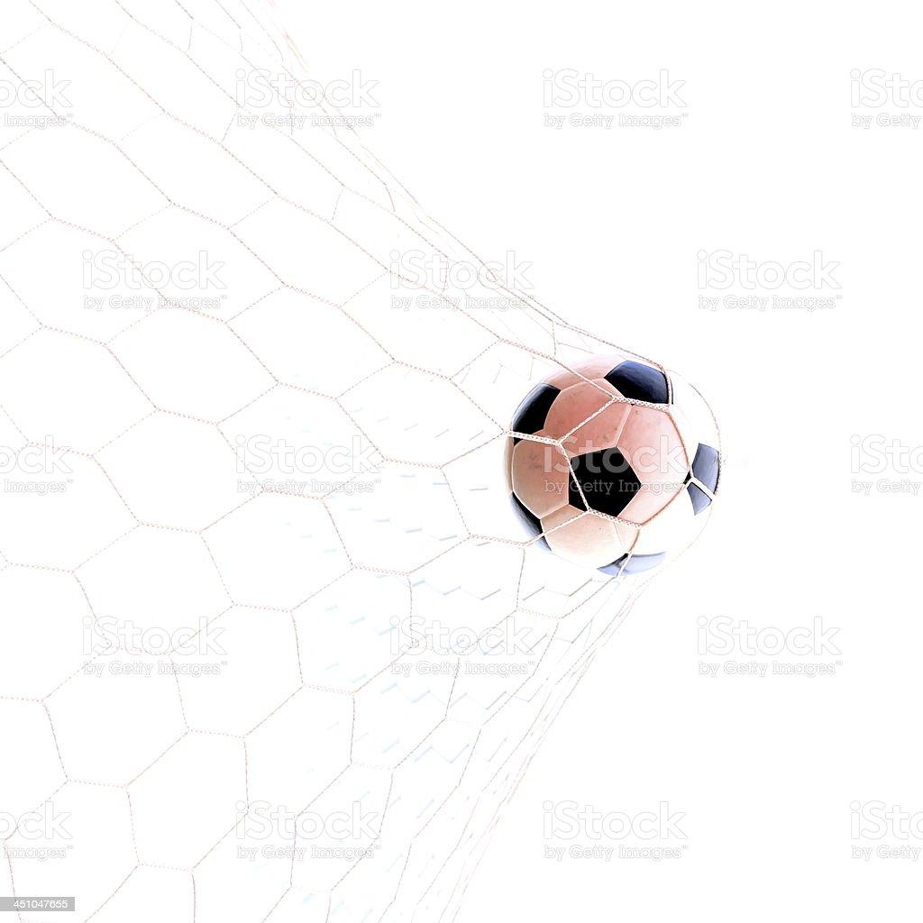 Soccerball in net stock photo