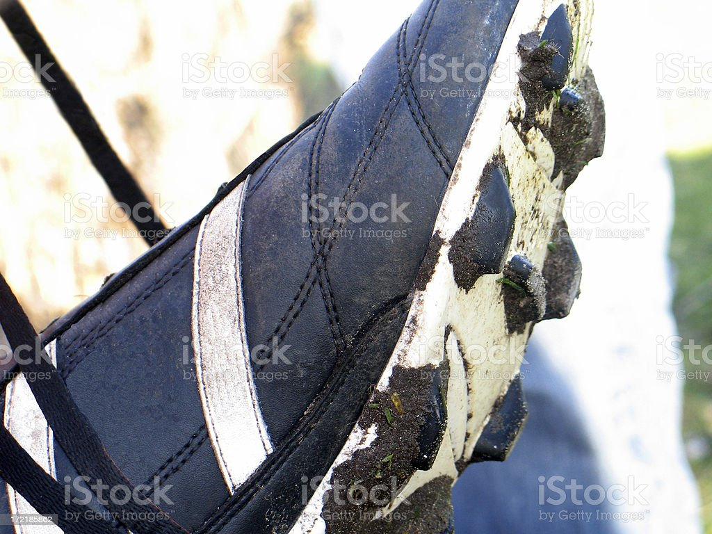 Soccer-boot stock photo