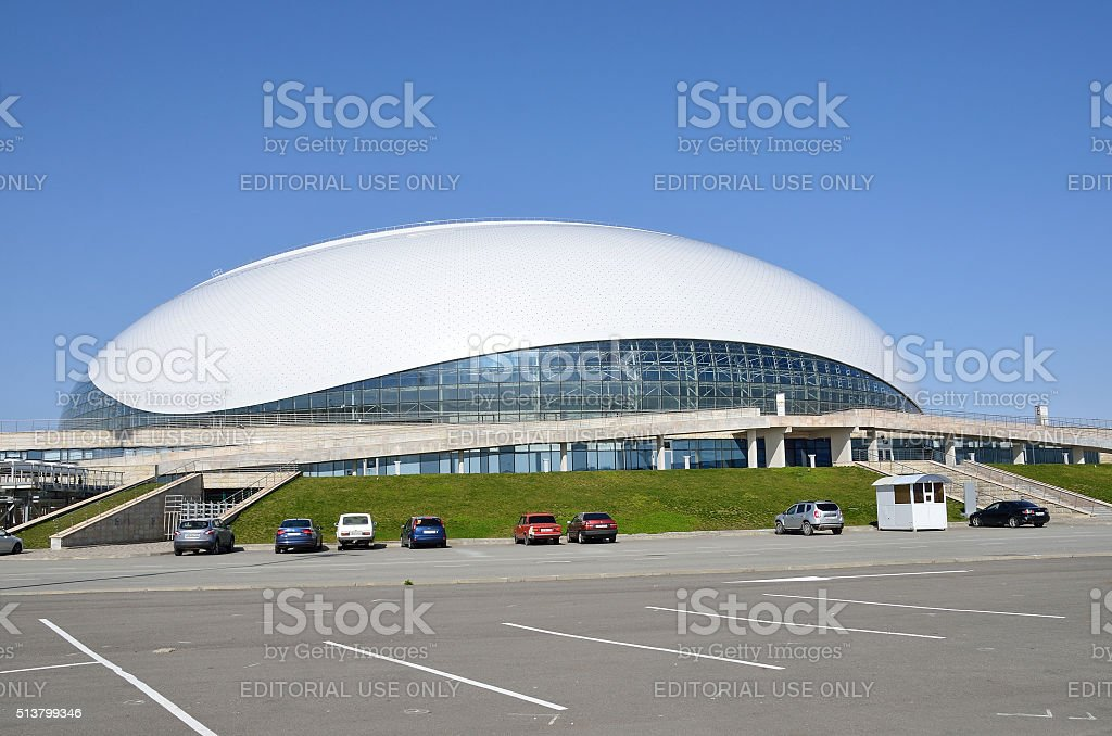 Sochi, Bolshoi ice Palace for ice hockey in Olimpic park stock photo