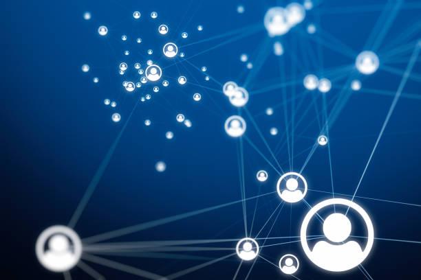 konteksty połączeń społecznych - sieć komputerowa zdjęcia i obrazy z banku zdjęć