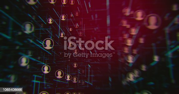 istock Social Connection Network Backgrounds 1065408666