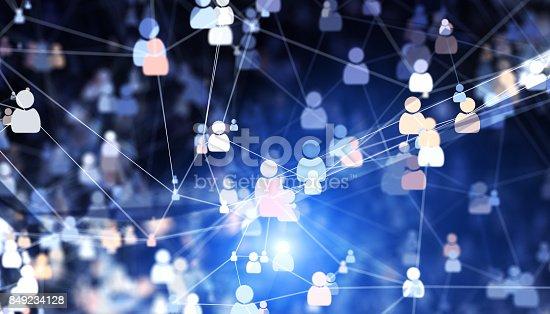 Social connections. 3D illustration