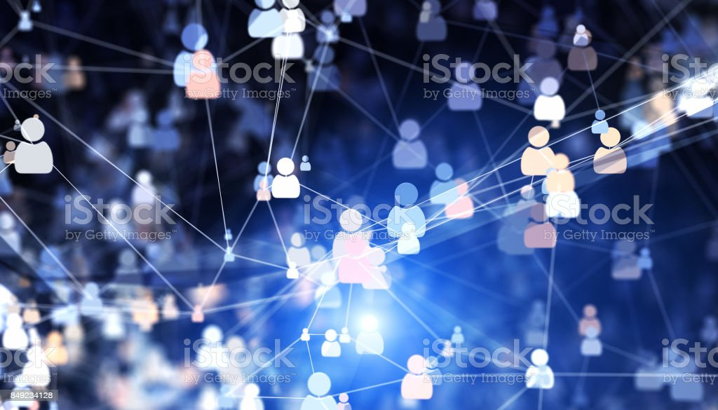 Social connections stock photo