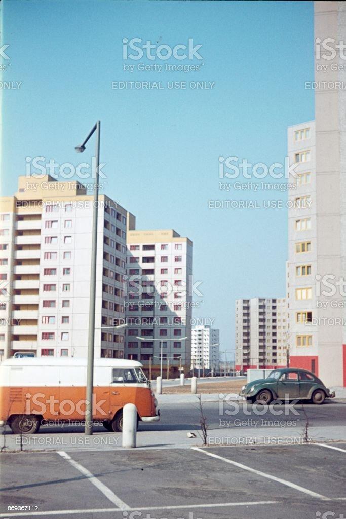 Social construction program, Berlin-West stock photo