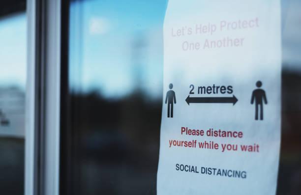 Diagramme social de distanciation - Photo
