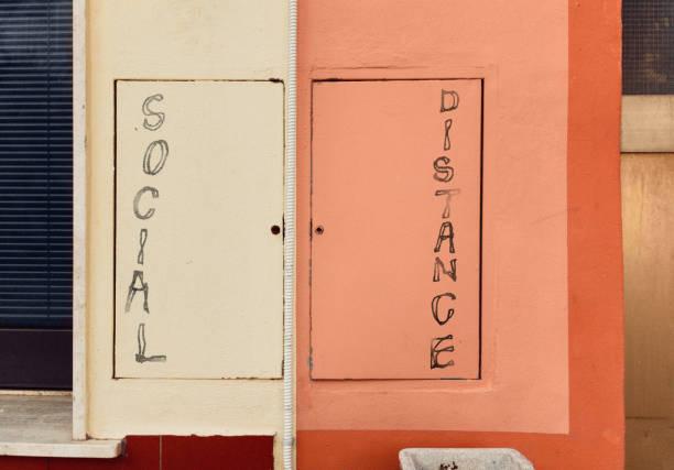 social distancing stock photo