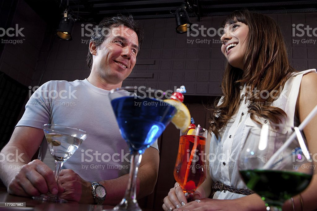 Social gathering in a nightclub stock photo