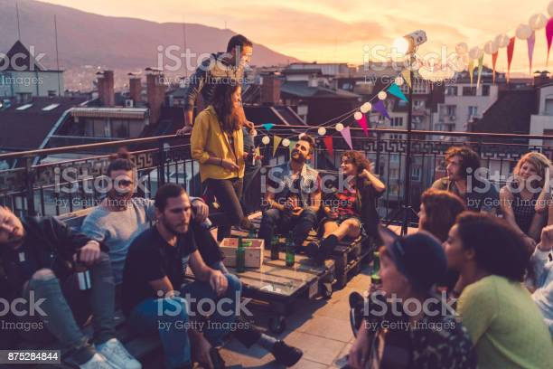 Social gathering on the rooftop picture id875284844?b=1&k=6&m=875284844&s=612x612&h=zprnmuie0w9ohnud9sgiwnbfklcfkqrwbl3iy6yzsqi=