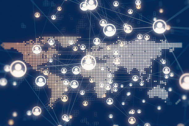 Social Global Network Backgrounds stock photo