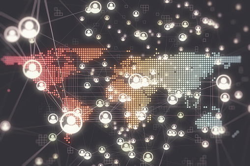 istock Social Global Network Backgrounds 1180205190