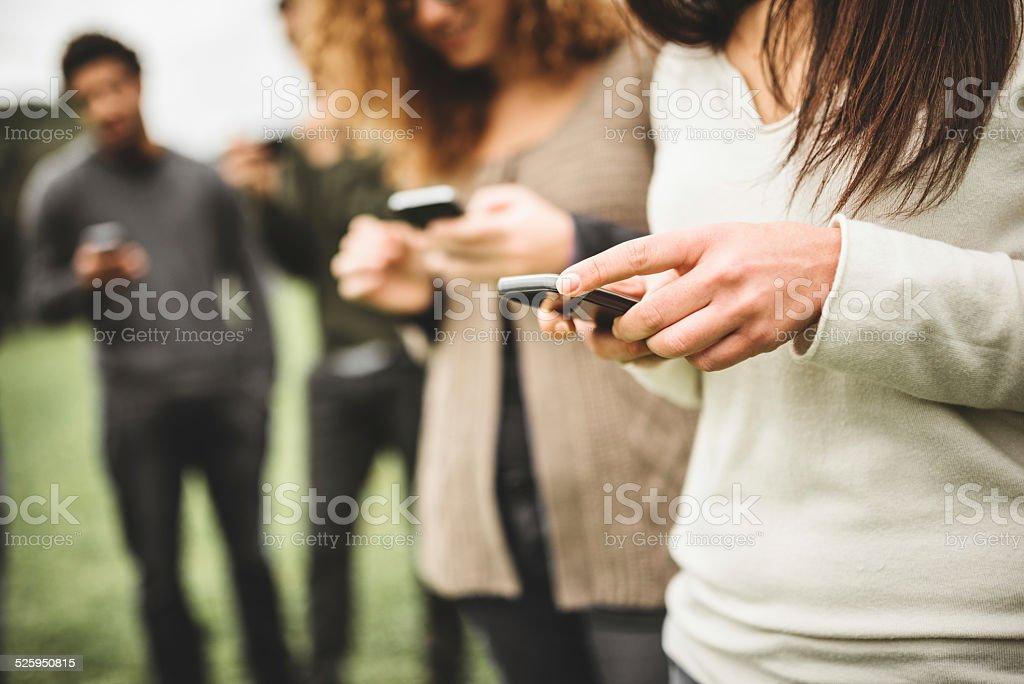 social media addiction stock photo