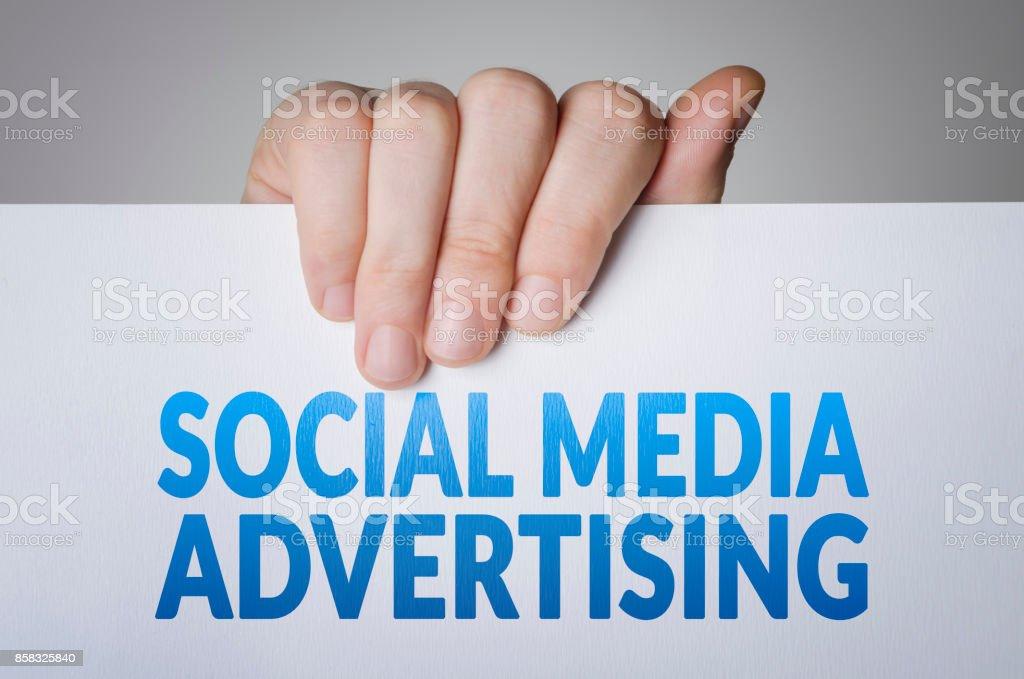 Social media advertising stock photo