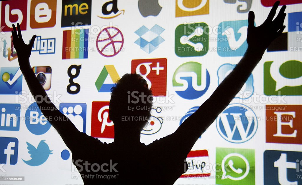 Social media and technology stock photo