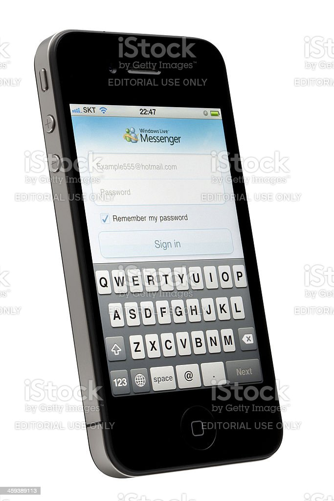 Social Media App on Apple iPhone stock photo