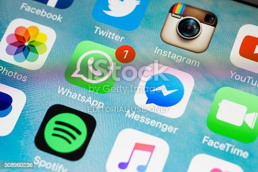 istock Social Media Applications Icons 508960236