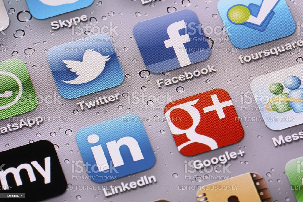 Social Media Applications stock photo
