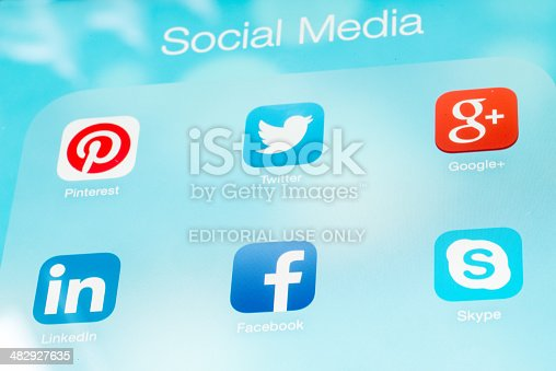 istock Social Media Applications 482927635