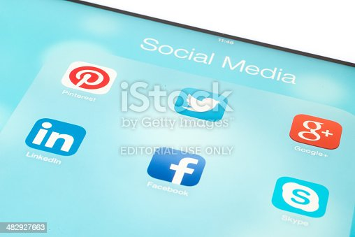 istock Social Media Applications 482927663