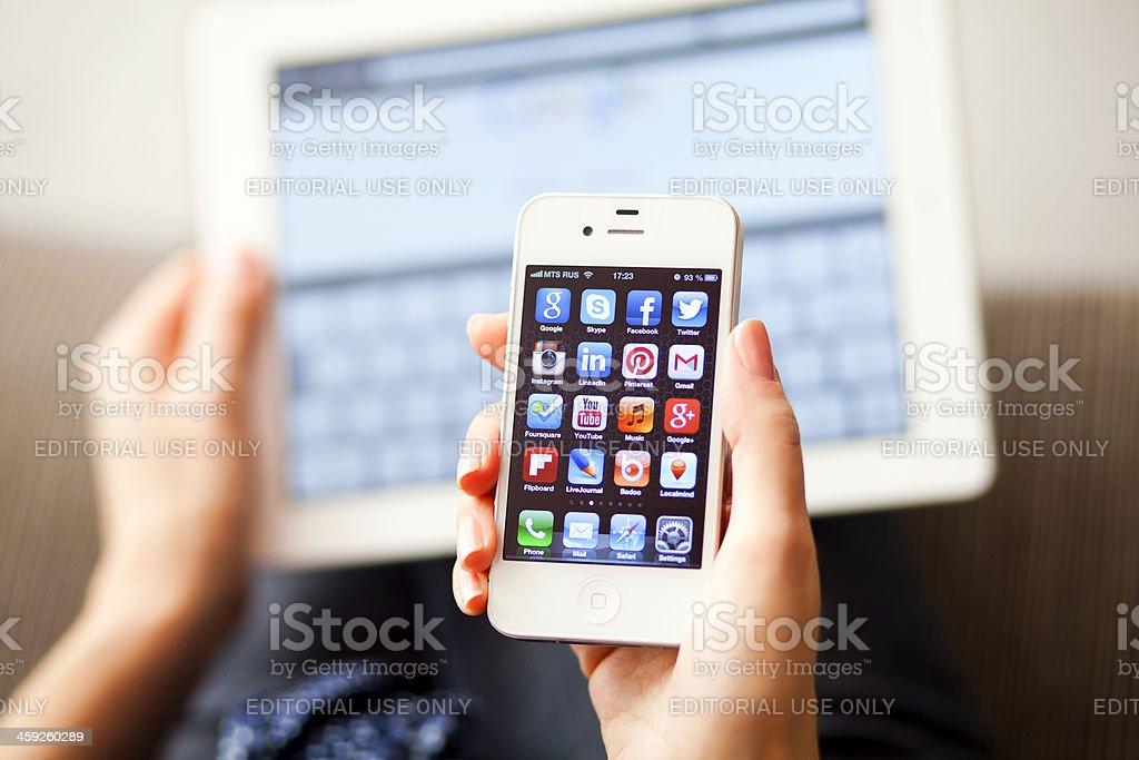 Social Media Apps stock photo