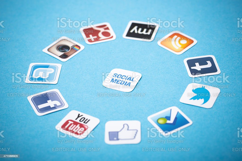 Social media apps stock photo