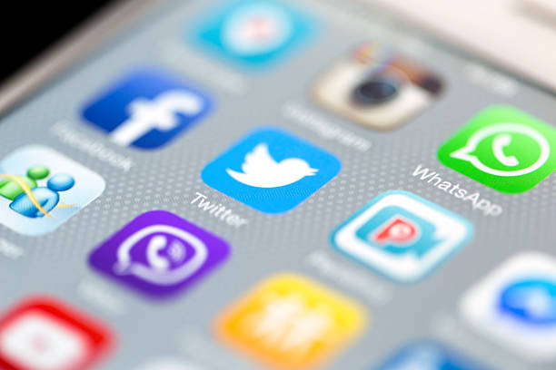 Les médias sociaux Apps WhatsApp sur iPhone 6 avec écran plat - Photo