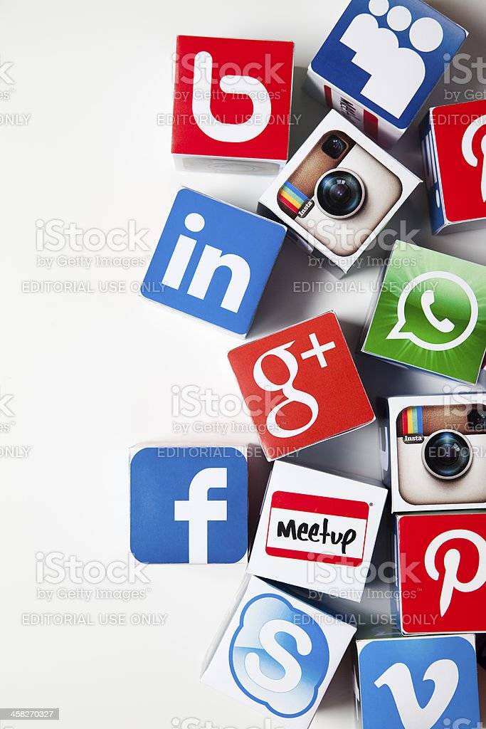Social media background royalty-free stock photo