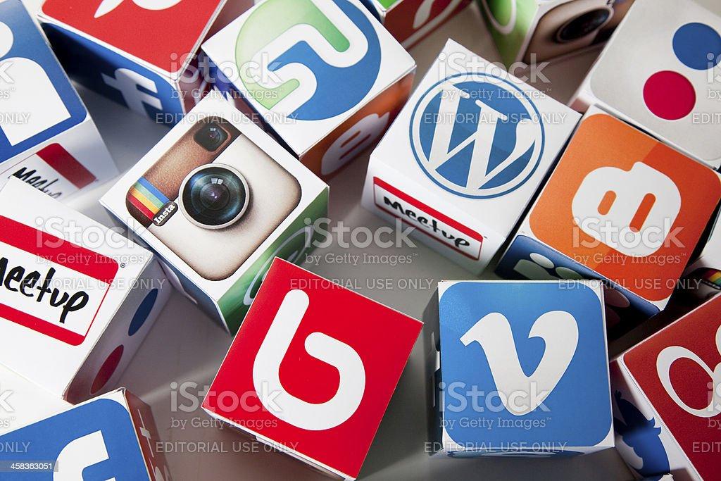 Social media background royalty-free stock photo