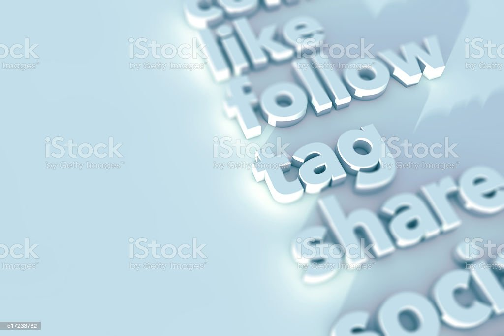 Social media background stock photo